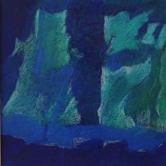 Bild 9, 2002, Mischtechnik auf Papier ca. 20x20 cm