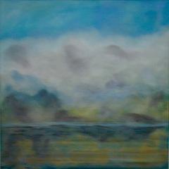 Wolken II , 2016 Mischtechnik auf Leinwand 60x60 cm . JPG