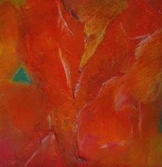 Bild 3, 2002, Mischtechnik auf Papier ca. 20x20 cm