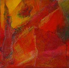 Bild 1, 2002 Mischtechnik auf Papier ca. 20x20 cm