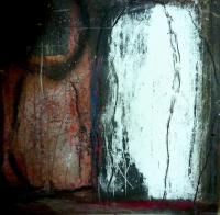 Ostern II, 2017, Mischtechnik auf Pappe, 30x30 cm