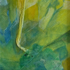 Bild 12, 2002, Mischtechnik auf Papier ca. 20x03 cm