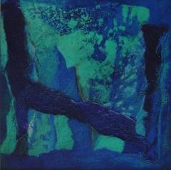 Bild 7, 2002, Mischtechnik auf Papier ca. 20x20 cm