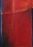 triptychon in rot,2002,Acryl auf Leinwand, 120x30, 140x100, 120x30 cm