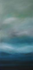 Gewitterstimmung, 2014 Mischtechnik auf Leinwand 100x60 cm