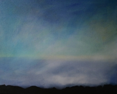 Madeira ueber den Wolken, 2011, Acryl auf Leinwand 50x60 cm