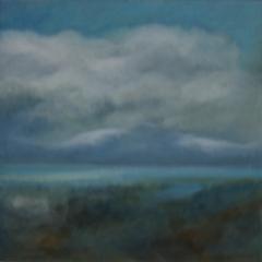Wolken I , 2016 Mischtechnik auf Leinwand 60x60 cm
