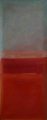 IX 2009, Acryl auf Leinwand, 100x50 cm