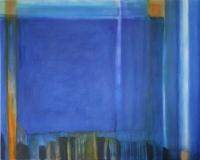 Komposition in blau Acryl auf Leinwand 2009 70x 100 cm