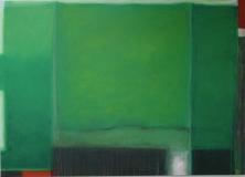Komposition in gruen 2009, Acryl auf Leinwand 100x 130