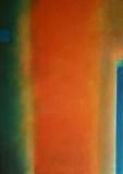 Komposition in orange 2010. Acryl auf Leinwand 70x50 cm