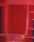 Komposition in rot I 2008, Mischtechnik auf Leinwand 120x100