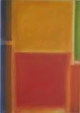 Rotgelbe Harmonie, 2008, Acryl auf Leinwand 70x50 cm 2008