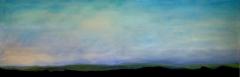 Fruehling laesst sein blaues Band _ _ , 2013, Mischtechnik auf Leinwand, 50x150 cm