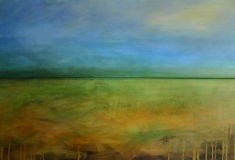 Fruehlingsmorgen, 2011, Acryl auf Leinwand 2x 30x90 cm