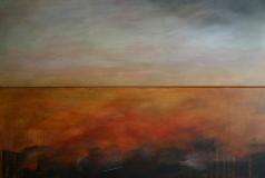 Herbsttag, 2011, Acryl auf Leinwand 2x 30x90 cm