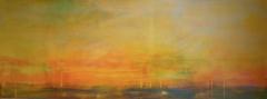 Landschaft I 12 2012, Mischtechnik auf Leinwand, 60x160 cm