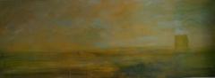 Landschaft II 12, 2012, Mischtechnik auf Leinwand, 60x160 cm