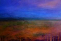 Sommerabend, 2011, Acryl auf Leinwand 2x 30x90 cm