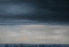 Winternacht, 2011, Acryl auf Leinwand 2x 30x90 cm