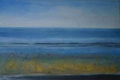 am Meer, 2016, Mischtechnik auf Leinwand, 70x90 cm