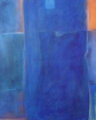 o.T. 2001, Mischtechnik auf Leinwand, 100x80 cm