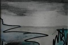 Skizze VIII, 2015, Mischtechnik auf Papier 10x15 cm