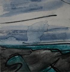 Skizze II, 2015, Mischtechnik auf Papier 9x9 cm