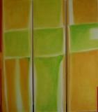 Ostern , 2006, Acryl auf Leinwand 140x 40x40x40