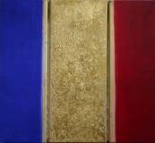 Weihnachten, 2006 Blattgold Pigmente auf Leinwand, 60x30x40x30