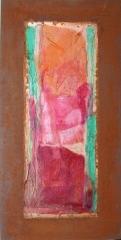 Wochentafeln 1 12Collage auf Eisen, 2010- 12, 30x15 cm .JPG