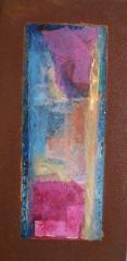 Wochentafeln 2 12Collage auf Eisen, 2010- 12, 30x15 cm