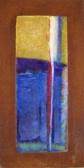 Wochentafeln 2 1Collage auf Eisen, 2010- 12, 30x15 cm .JPG
