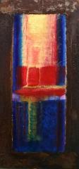 Wochentafeln 3 1 Collage auf Eisen, 2010- 12, 30x15 cm