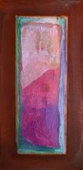 Wochentafeln 3 11 Collage auf Eisen, 2010- 12, 30X15 cm