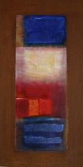 Wochentafeln 4 1 Collage auf Eisen, 2010- 12, 30x15 cm .JPG