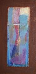 Wochentafeln 3 12 Collage auf Eisen, 2010- 12, 30x15 cm