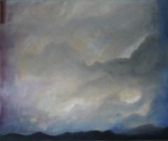 Wolkenhimmel, 2015 Mischtechnik auf Leinwand 50x60 cm