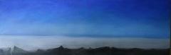Wolkenmeer, 2013, Mischtechnik auf Leinwand,50x 150 cm