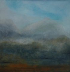 Wolken III, 2016 Mischtechnik auf Leinwand 60x60 cm